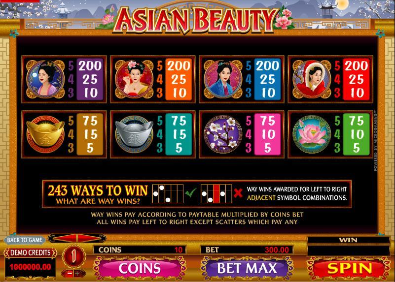 Asian Beauty-เกม